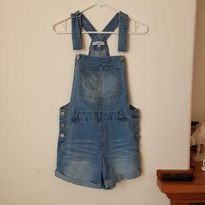 Love tree denim medium jean short overalls